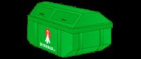 10m3 Container gesloten